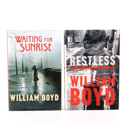 "Signed First UK Edition ""Restless"" and ""Waiting for Sunrise"" by William Boyd"