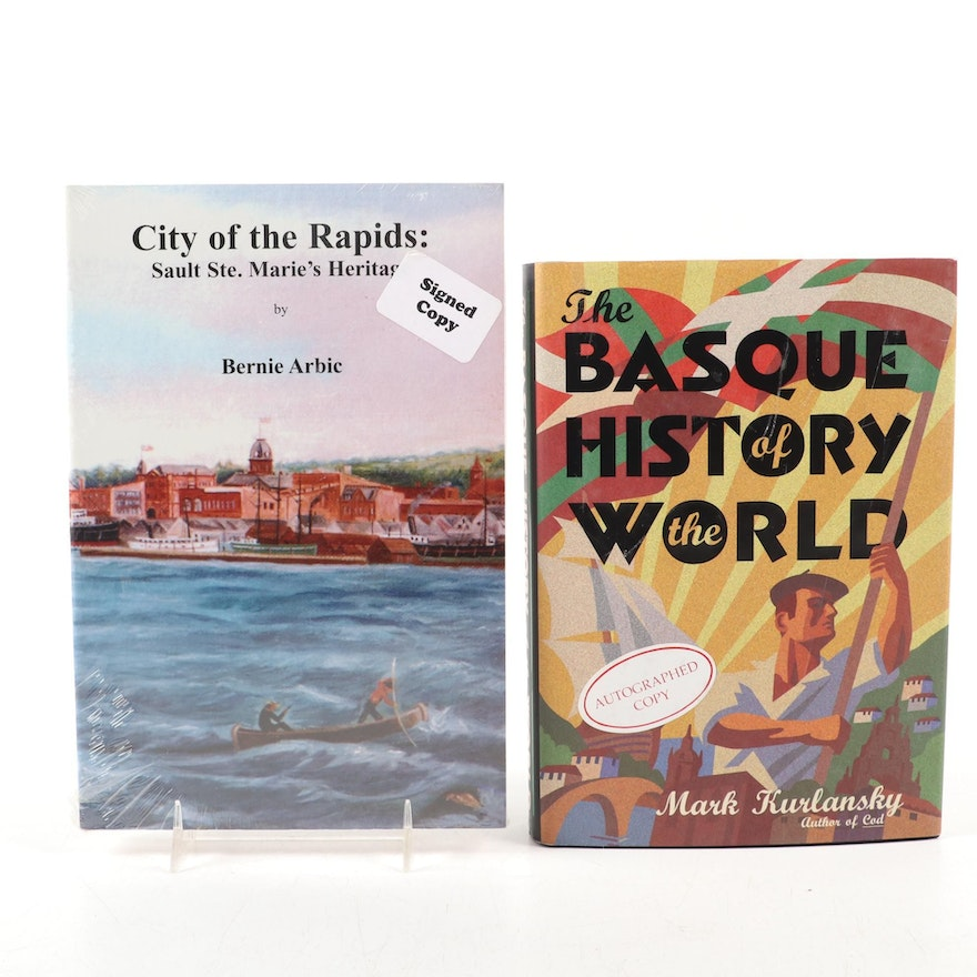 "Signed First Edition ""The Basque History of the World"" by M. Kurlansky and More"