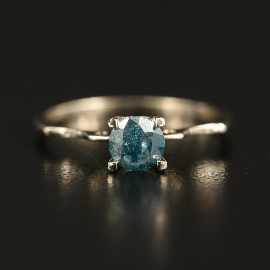 14K 0.64 CT Diamond Solitaire Ring
