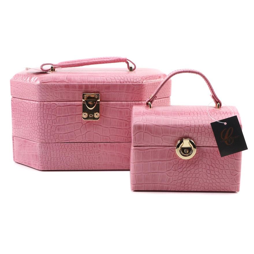 Bella Collection Fushia Jewelry Cases
