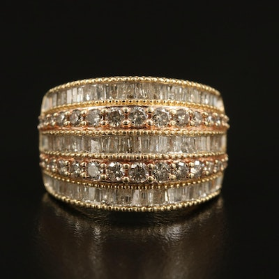 10K 2.25 CTW Diamond Multi-Row Ring