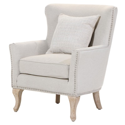 "Dorel Living ""Reva"" Contemporary Wing Back Armchair with Nailhead Trim"