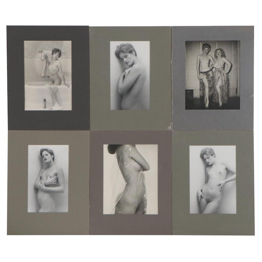 Female Nude Silver Gelatin Photographs, 1980s