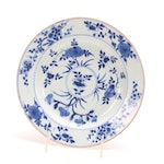 Chinese Hand-Painted  Blue and White Porcelain Plate