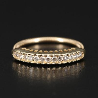 14K Diamond Expandable Ring