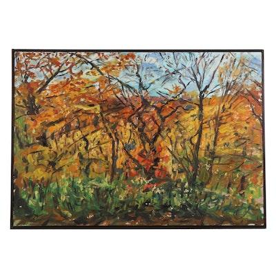 "Stephen Hankin Oil Painting ""Wild is the Wind,"" Late 20th Century"