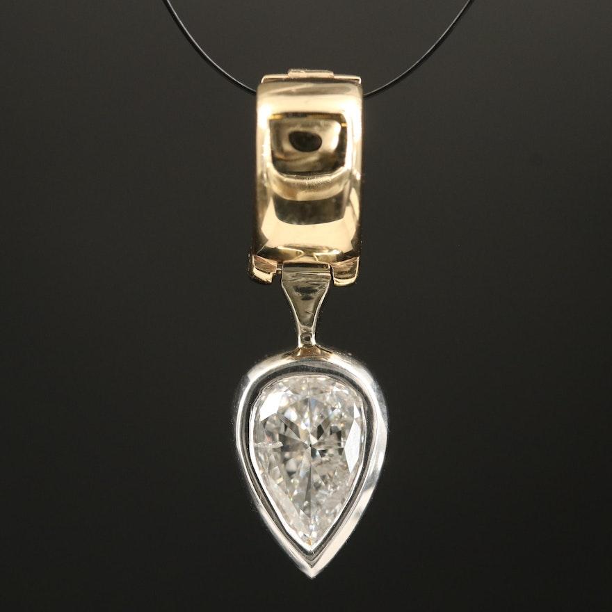 14K Diamond Enhancer Pendant