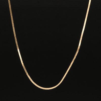 18K Herringbone Chain Necklace