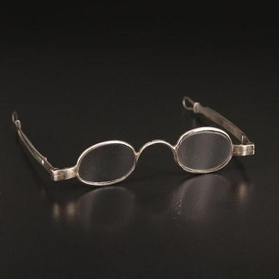 Antique 800 Silver Eyeglasses