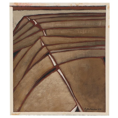 Sirak Melkonian Abstract Acrylic Painting, 1977