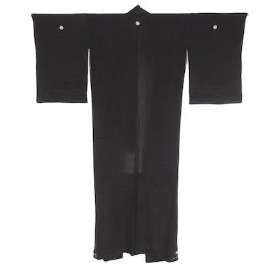 Five-Mon Tomesode Kimono with Gosho Guruma Detail at Hem