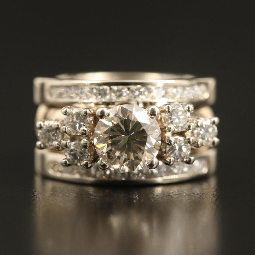 14K Two-Tone 2.53 CTW Diamond Ring