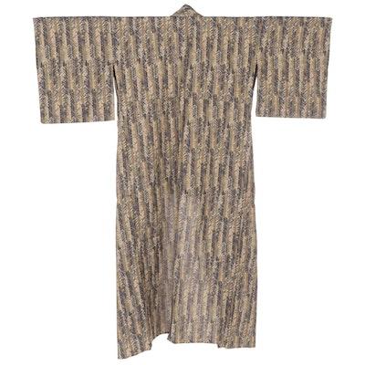 Yanagi Ha Patterned Hitoe Kimono, Shōwa Period