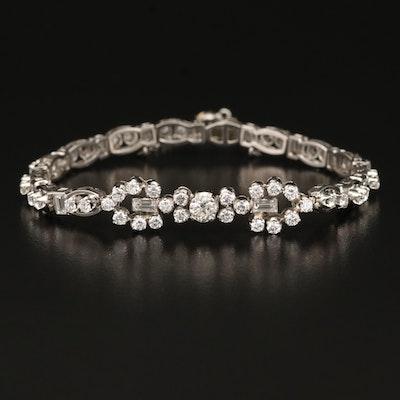 Platinum 4.84 CTW Diamond Link Bracelet