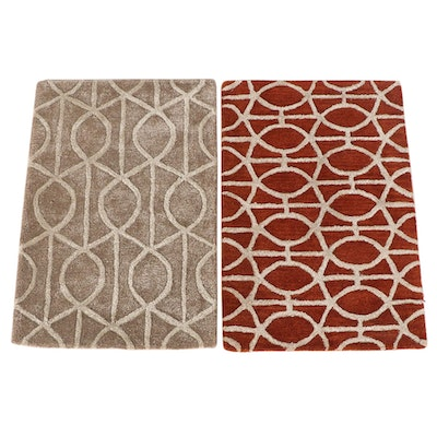 2'1 x 3'0 Hand-Tufted Indian Accent Rugs from The Rug Gallery