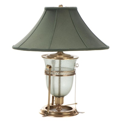 Frederick Cooper Brass Mounted Glass Urn Table Lamp