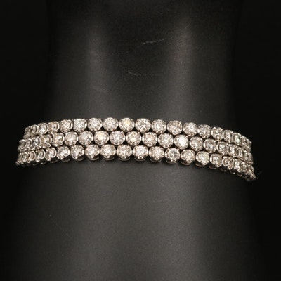14K Triple Row 12.47 Diamond Bracelet