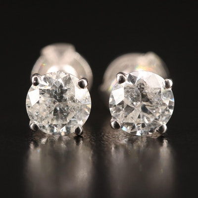 14K 2.00 CTW Diamond Stud Earrings