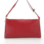 Louis Vuitton Pochette Accessories in Red Epi Leather