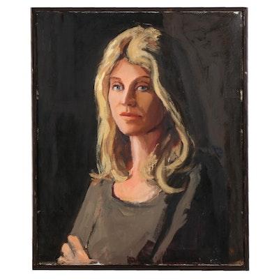 """Stephen Hankin Portrait Oil Painting """"Ani,"""" 21st Century"""