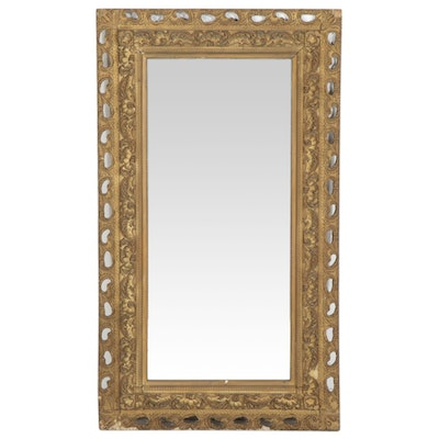 Victorian Gilded Gesso and Wood Mirror, Late 19th to Early 20th Century