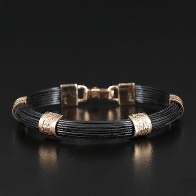 9K and Coated Metal Bracelet
