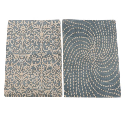 2' x 2'11 Hand-Knotted Nepalese Wool Accent Rugs from The Rug Gallery