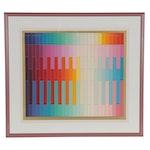 """Yaacov Agam Abstract Serigraph """"Magic Rainbow"""""""