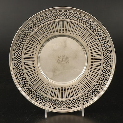 Tiffany & Co. Sterling Silver Reticulated Plate, Early to Mid-20th Century
