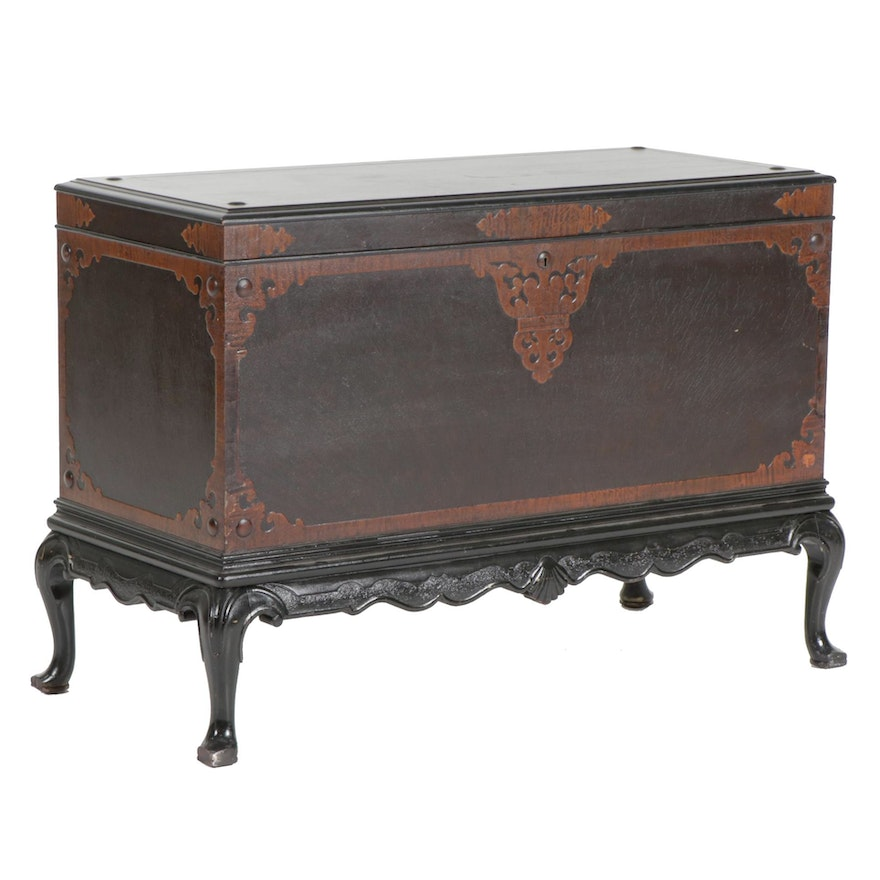 Berkey & Gay Flame Mahogany and Figured Maple Chest-on-Stand, circa 1905