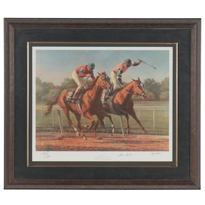 "Fred Stone Offset Lithograph ""The Duel: Affirmed & Alydar,"" 1996"