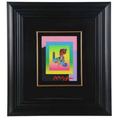 "Peter Max Embellished Lithograph ""Love on the Blends 2006"""