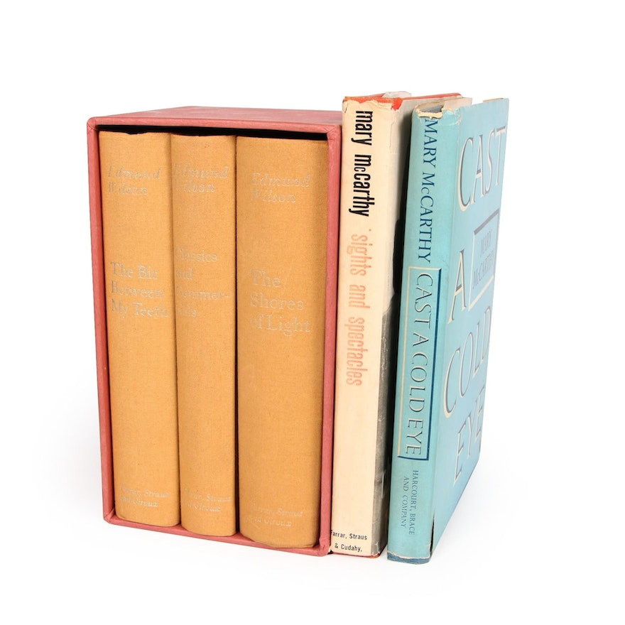 First Edition Mary McCarthy Books with Edmund Wilson Boxed Set, Mid-20th Century