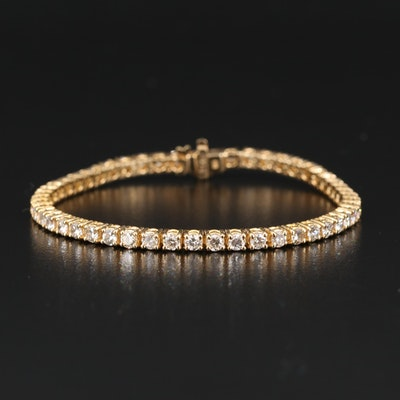 14K 5.08 CTW Diamond Tennis Bracelet