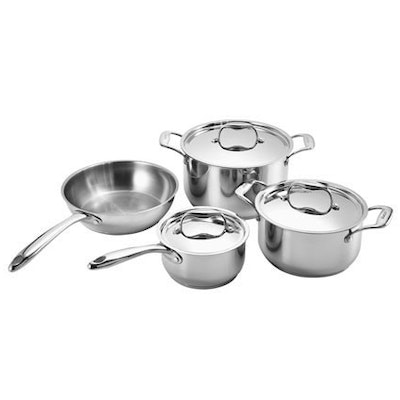 Dacor 7-Piece Stainless Steel Cookware Set with Aluminum Core