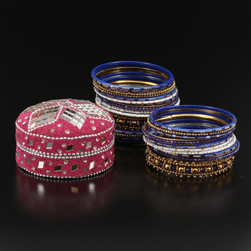 Collection of Bangles and Trinket Box