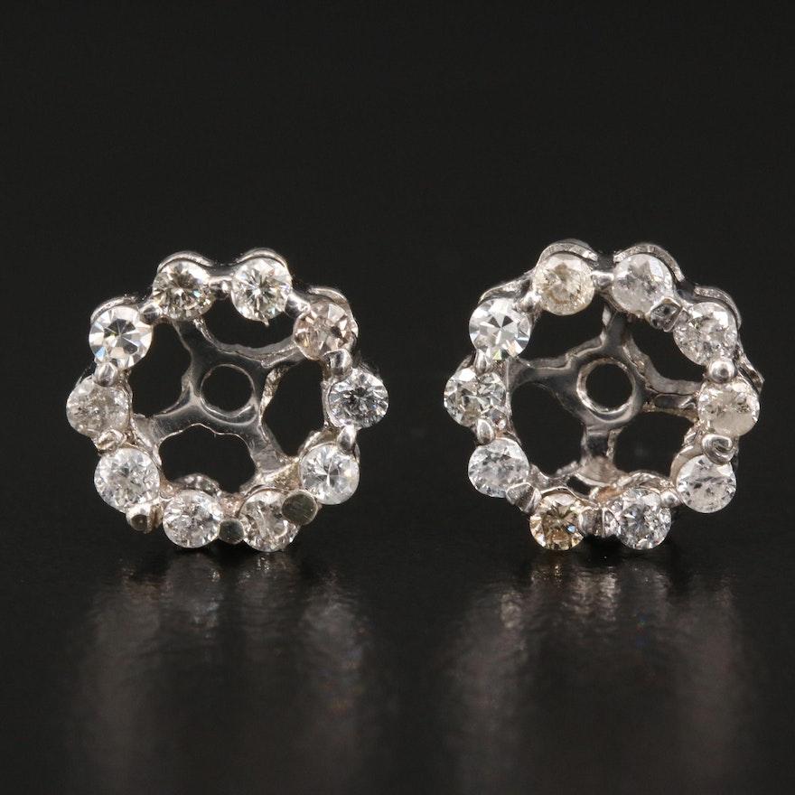 10K Diamond Earring Jackets