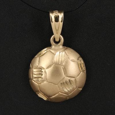14K Soccer Ball Pendant