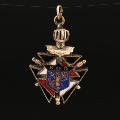 Enamel Knights of Columbus Pendant