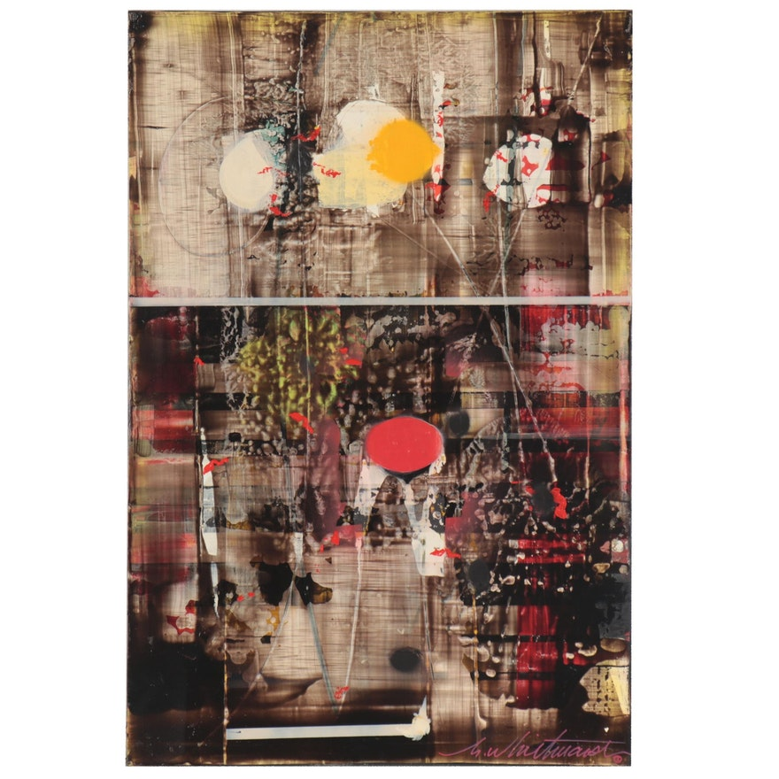 "Mark Whitmarsh Abstract Acrylic Painting ""Sunny,"" 21st Century"