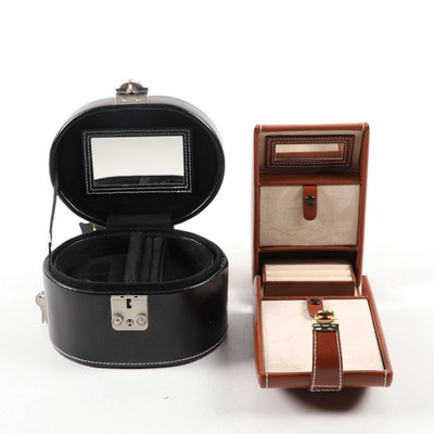 Champ Collection Leather Jewelry Boxes
