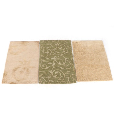 2'1 x 2'11 Hand-Knotted Nepalese Wool and Silk Accent Rugs from The Rug Gallery