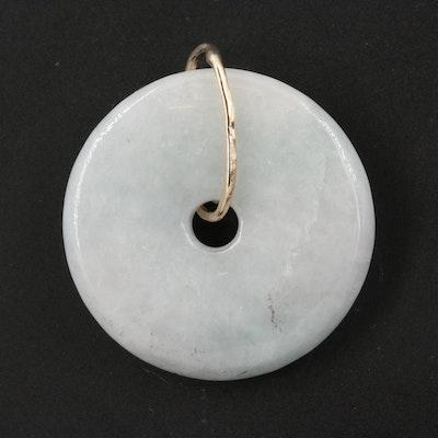 Jadeite Bi Disk Pendant