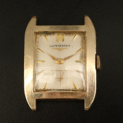 1953 Longines Gold Filled Stem Wind Watch