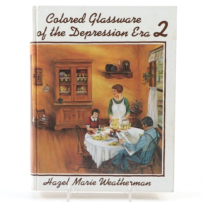 """Colored Glassware of the Depression Era 2"" by Hazel Marie Weatherman, 1991"