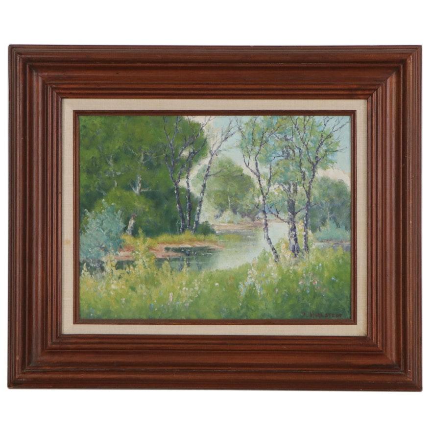 Peter Hohnstedt Forest Landscape Oil Painting