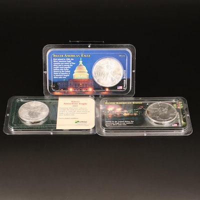 Three American Silver Eagle Bullion Coins