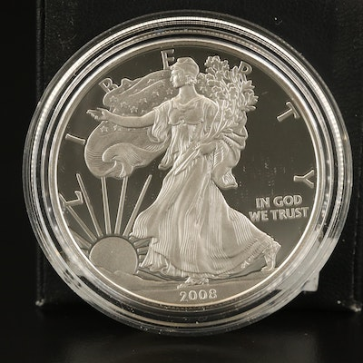 2008-W American Silver Eagle Proof Bullion Coin