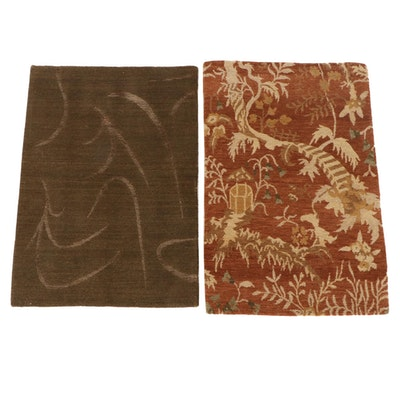 2'1 x 2'11 Hand-Knotted Nepalese Wool Accent Rugs from The Rug Gallery