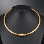 Greek Ilias Lalaounis 18K Hinged Collar